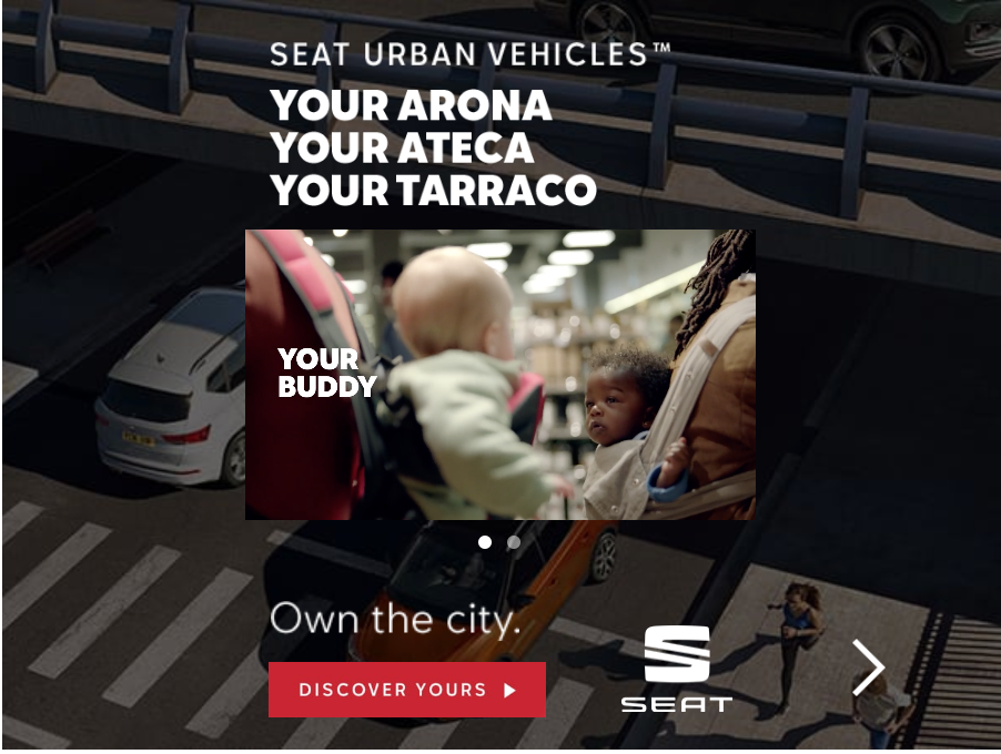 SEAT Tablet Banner