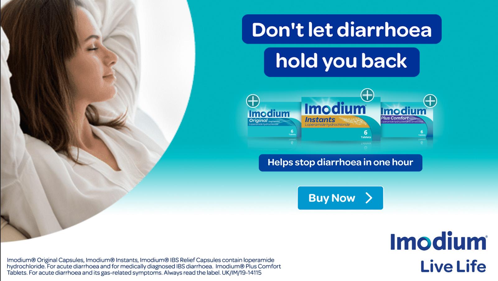 Imodium Tablet Banner